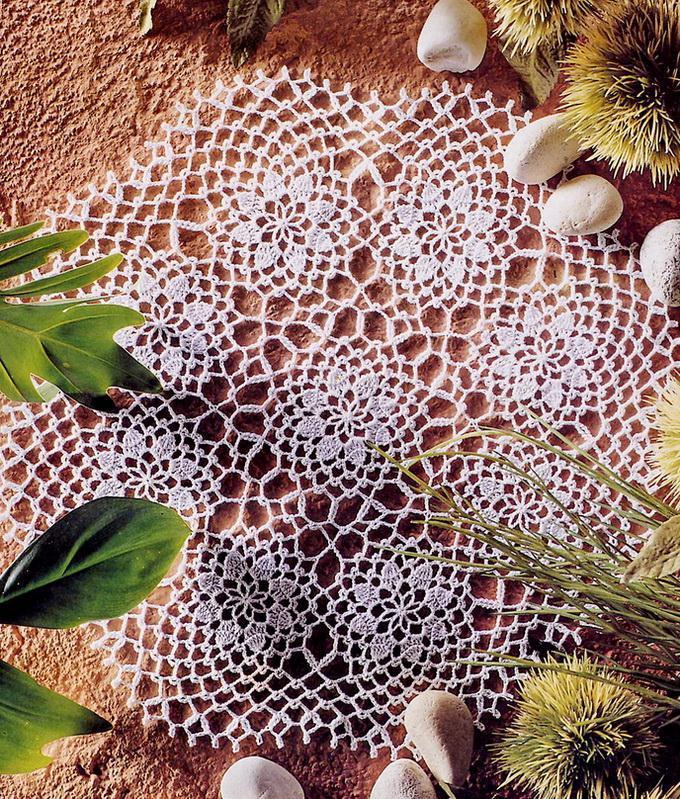 Round Doily Pattern -  Lace Circular Crochet Motifs