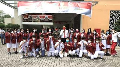 Pangdam Pantau Vaksinasi Umur 12 - 17 Tahun di SMA Santo Thomas Medan