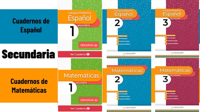 Cuadernos de Aprendizajes Fundamentales para secundaria de Español y Matemáticas