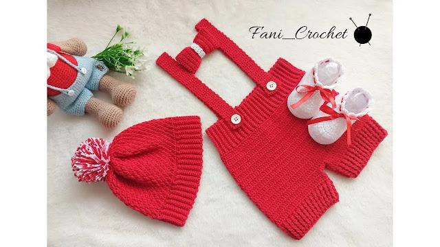 TUTORIAL GRATIS de Overol de Bebé a Crochet