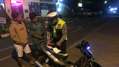 Polres Dairi Kembali Lakukan Razia Balap Liar  dan Knalpot Blong Sepeda Motor.