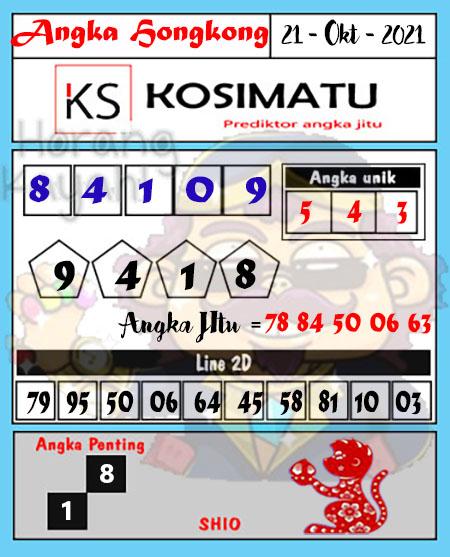Kosimatu HK Kamis 21 Oktober 2021