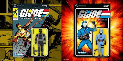Target Exclusive G.I. Joe Variant Comic Book Edition Snake Eyes & Vac Metal Cobra Commander ReAction Figures by Super7