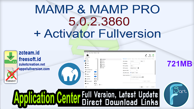MAMP & MAMP PRO 5.0.2.3860 + Activator Fullversion