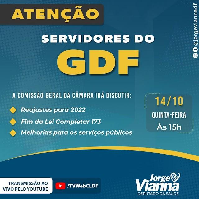 A Comissão Geral na CLDF debate pauta de servidores