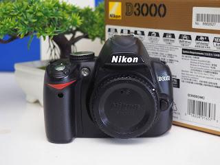 Jual Nikon D3000 Body Only Bekas Fullset