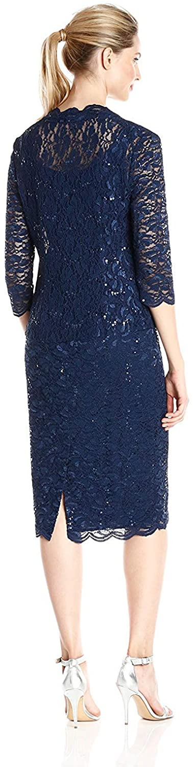 Navy - Knee Length Mother of the Bride Dresses