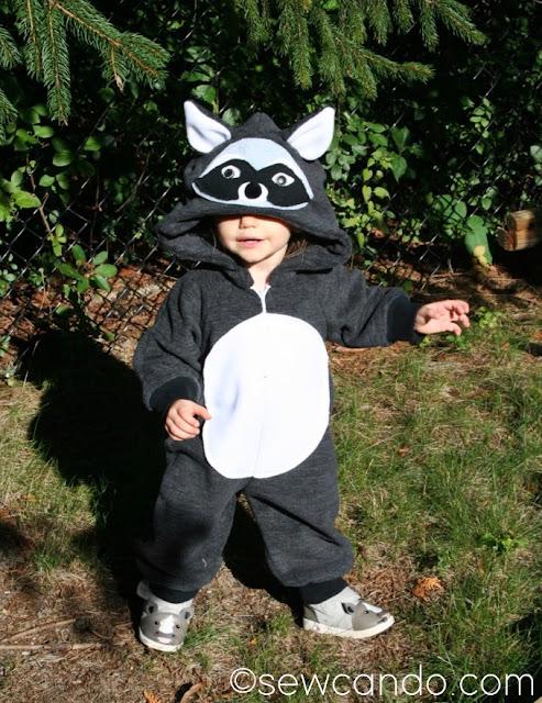 Raccoon Costume Pattern Hack - Sewing Tutorial