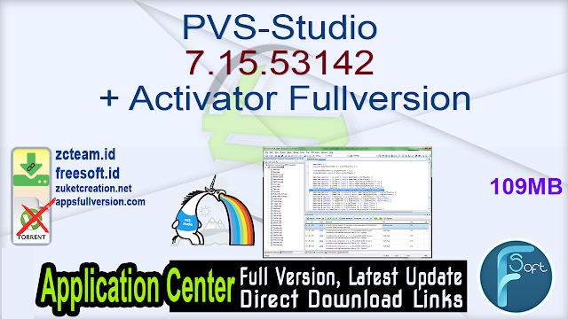 PVS-Studio 7.15.53142 + Activator Fullversion