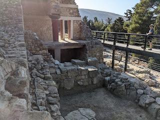 Palace of Knossos - near south entrance.