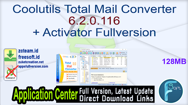 Coolutils Total Mail Converter 6.2.0.116 + Activator Fullversion