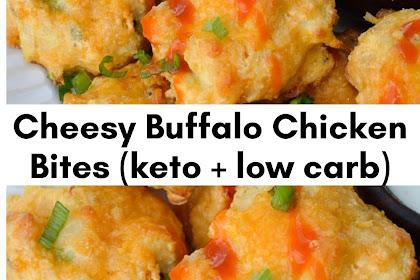 Cheesy Buffalo Chicken Bites (keto + low carb)