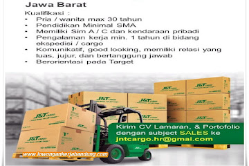 Loker Bandung Sales Marketing J&T Cargo