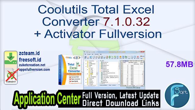 Coolutils Total Excel Converter 7.1.0.32 + Activator Fullversion