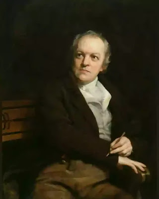 A few remarkable incidents of Blake's childhood have been recorded, among them the manifestation of his first known vision, when, at the age of four, he beheld God's head at a window and was seized with a fit of screaming. On other occasions, he informed his parents that during his walk about the fields he had seen angels; and once he returned to say that the prophet Ezekiel had appeared to him under a tree. He was so fiery-tempered that his father preferred not to send him to school, where he might be whipped, but chose to give him elementary instructions at home.