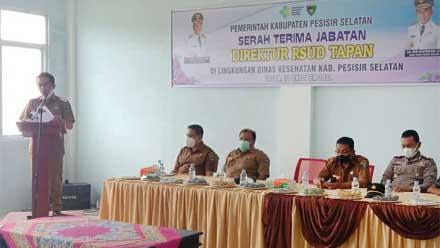 Rudi Hariyansyah hadiri serah terima Direktur RSUD Tapan