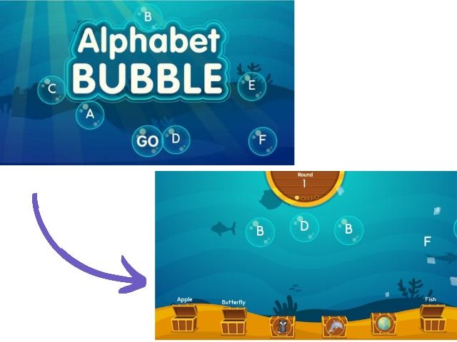 games alphabet bubble