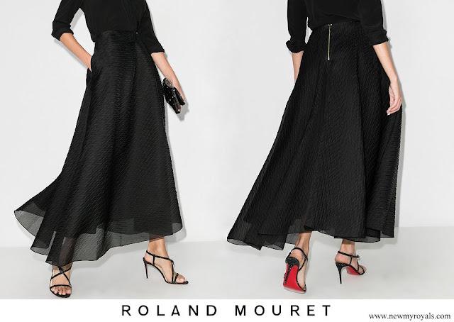 Countess of Wessex wore Roland Mouret Mulligan Layered Midi Skirt