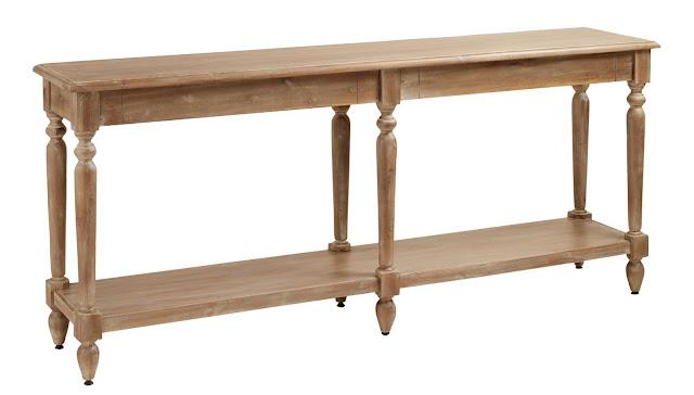 medium tone wood Everett foyer table