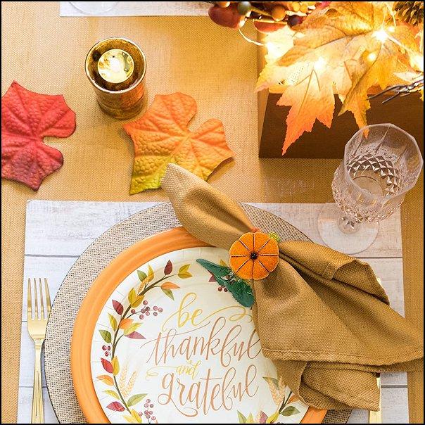 thanksgiving Napkin Rings Thanksgiving dinner table Thanksgiving table decorations