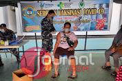 TNI AL Gelar Serbuan Vaksinasi Tahap Dua Kepada Masyarakat Maritim di Tolitoli