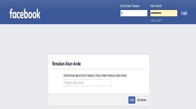 Cara Mengatasi Lupa Sandi Facebook Nomor Mati
