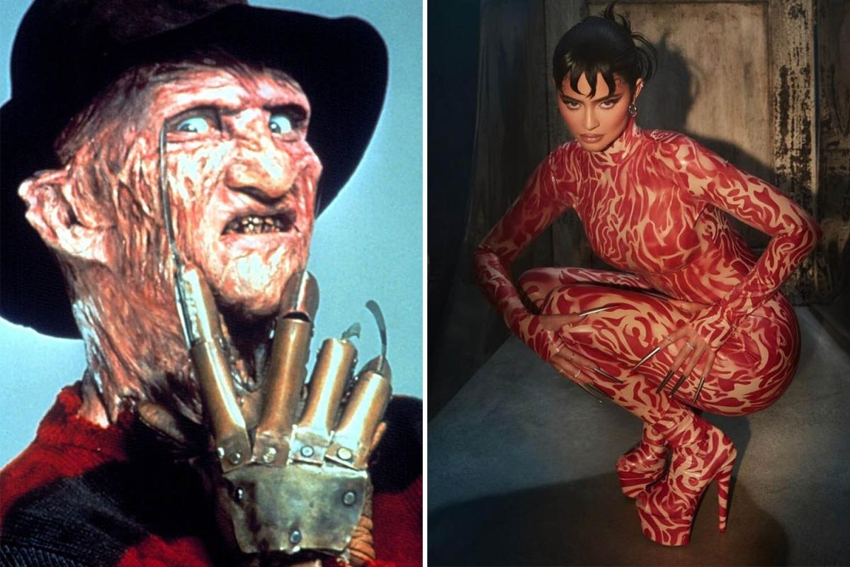 Kylie Jenner al estilo Freddy Krueger para su última colección de maquillaje