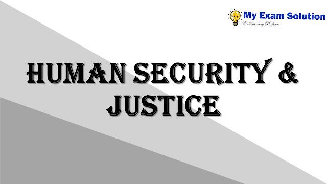 Human Security & Justice