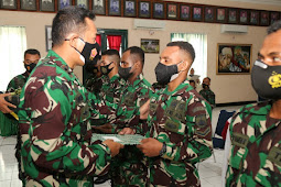2 Bulan Lebih Mendapat Pembekalan, Ba Otsus Papua, Dilepas Dandim 0703/Cilacap