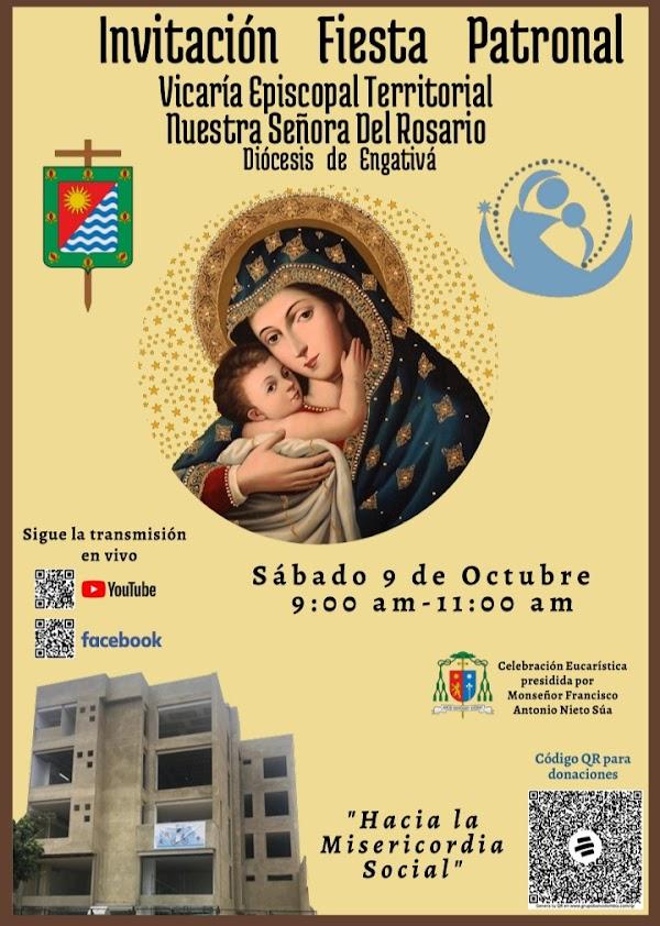 celebración de la fiesta patronal de Nuestra Señora del Rosario.