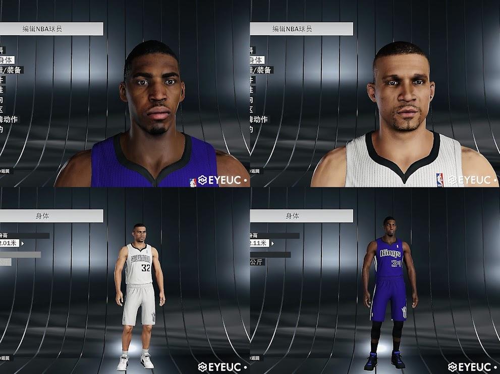 NBA 2K22 Francisco Garcia & Jason Thompson Retro Cyberfaces by Sirius lzy
