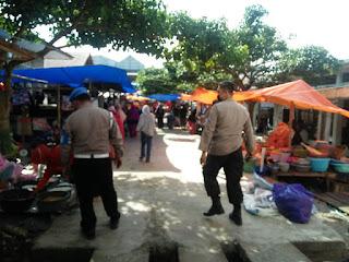 Polsek Maiwa Polres Enrekang Gelar Operasi Yustisi, Sasar Pasar Sentral Maroangin