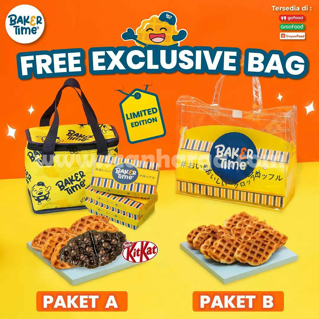 Promo BakerTime GRATIS TRAVEL BAG