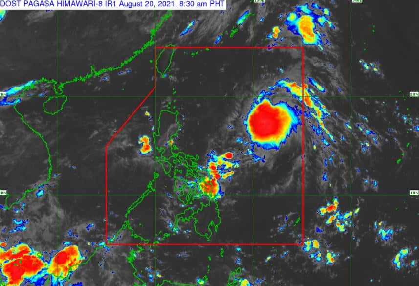 Satellite image of Tropical Storm 'Isang'