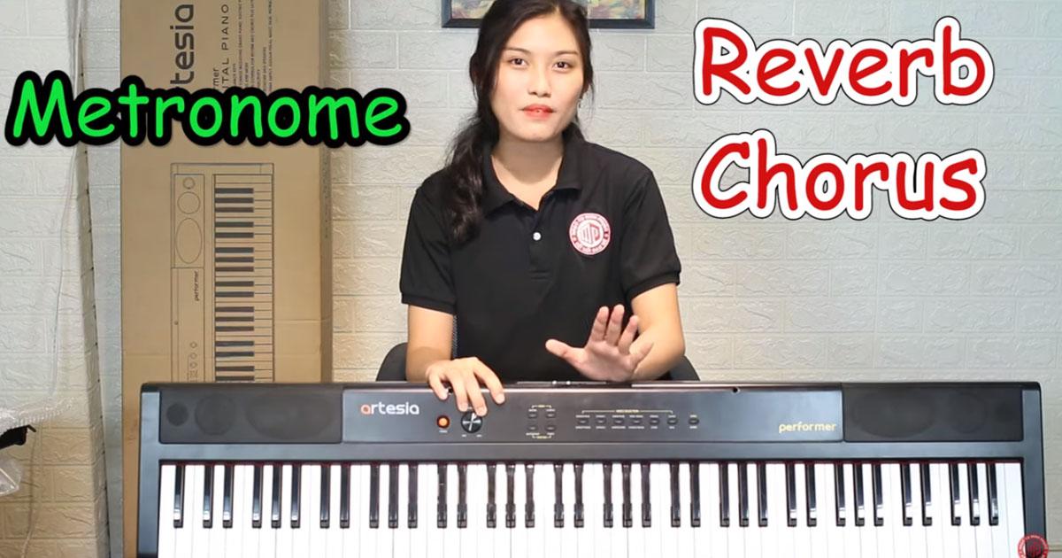 Đàn Piano Điện Artesia Performer cũng được trang bị bộ xử lý tín hiệu