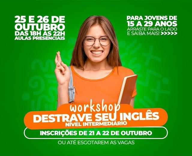Secretaria de Juventude de Belo Jardim abre inscrições para o Workshop Destrave o seu Inglês