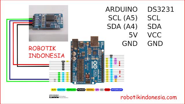 Rangkaian RTC DS3231 pada Arduino
