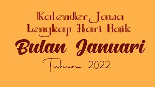 kalender jawa untuk bulan januari 2022 - kanalmu