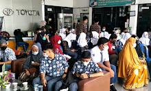 Ratusan Pelajar Ikut Vaksinasi di Kalla Toyota Sidrap