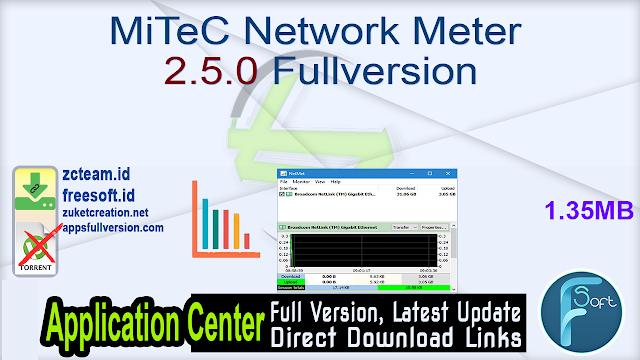 MiTeC Network Meter 2.5.0 Fullversion