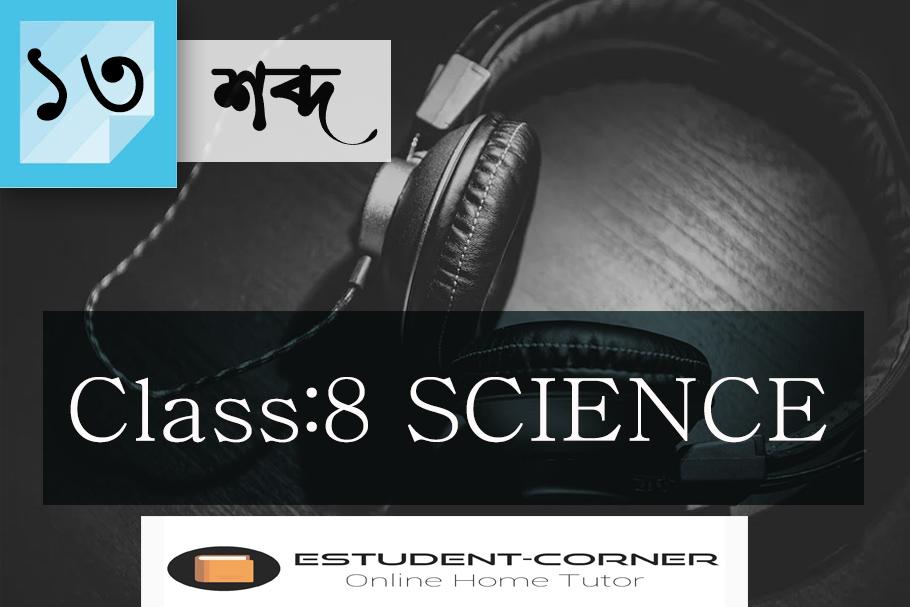 শব্দ ||  পাঠ 13 || CLASS 8 || SCIENCE || LESSON 13 || New SCERT Textbook