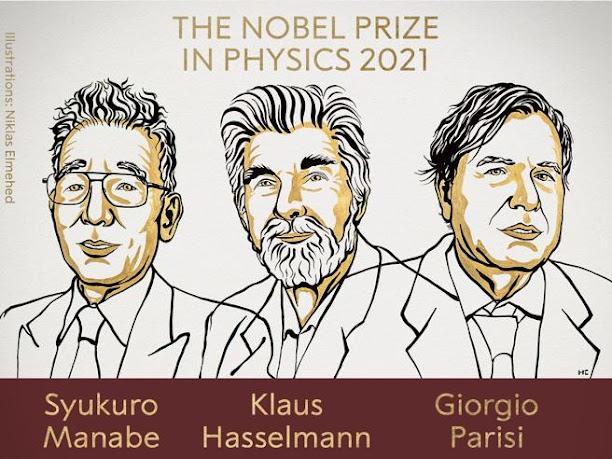 Nobel per la Fisica: Giorgio Parisi, Syukuro Manabe e Klaus Hasselmann
