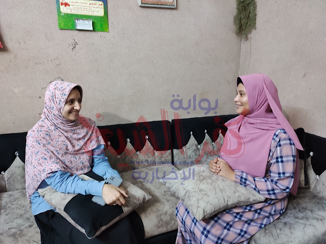 محررة بوابة كفر الشيخ الاخبارية مع نور الشيخ