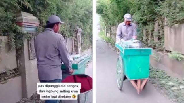 Pergoki Suami Dorong Gerobak di Jalan, Istri Langsung Nyesek saat Ingat Ini