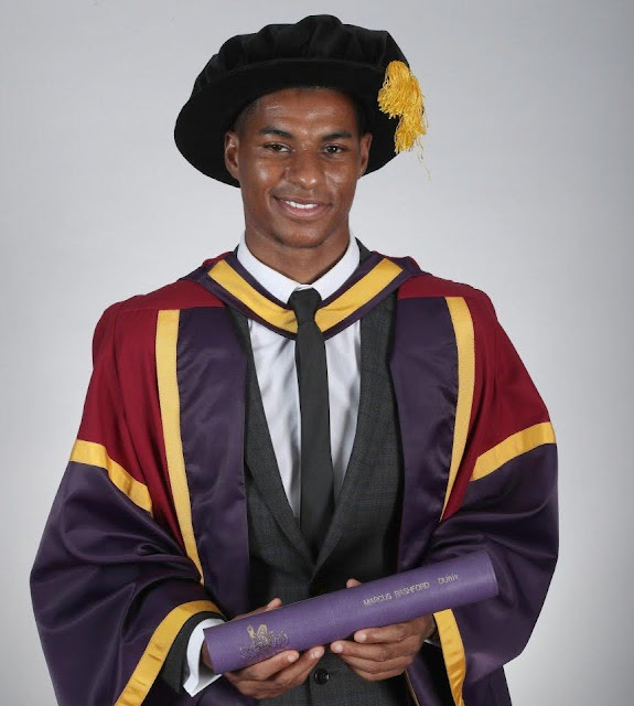 DR. Marcus Rashford: The Youngest to Be Awarded A Honorary Doctorate At Age 23