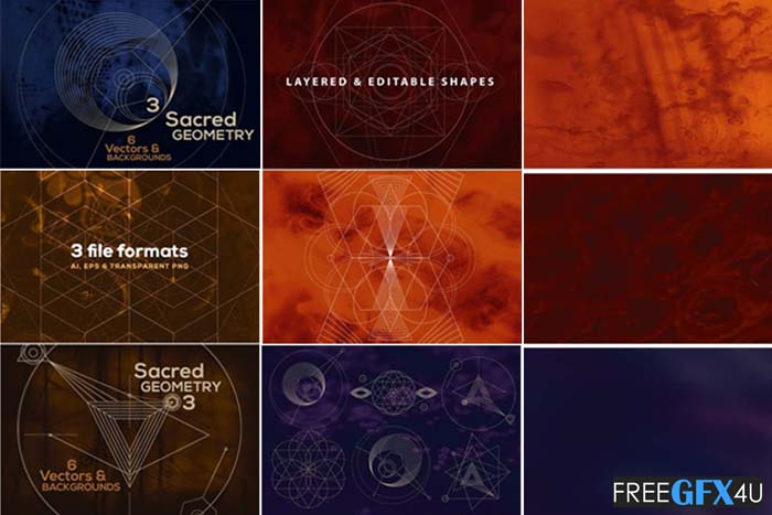 18 Vector Geometric Shapes Background