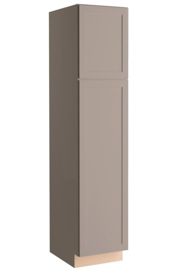 tall gray pantry cabinet