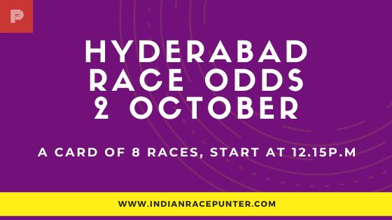 Hyderabad Race Odds 2 October