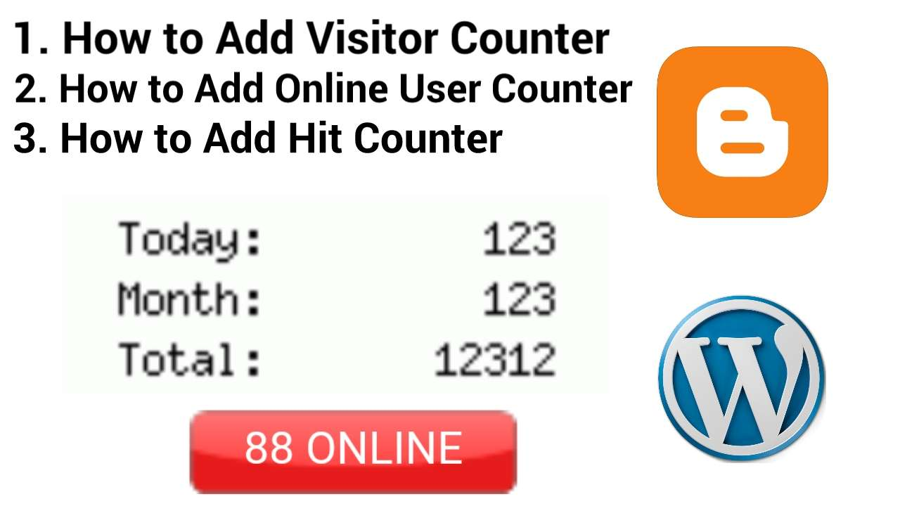 How to add Visitor Counter