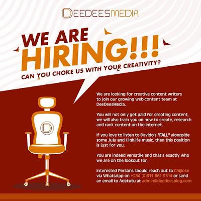 DeeDeesMedia hiring